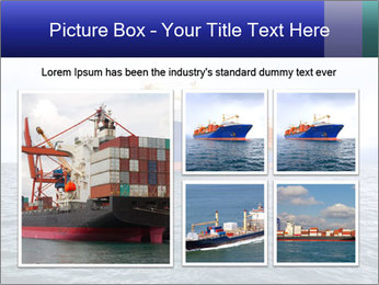 Commercial container ship PowerPoint Template - Slide 19