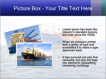 Commercial container ship PowerPoint Template - Slide 20
