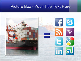 Commercial container ship PowerPoint Template - Slide 21