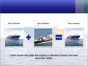 Commercial container ship PowerPoint Template - Slide 22