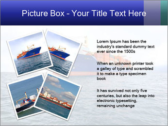 Commercial container ship PowerPoint Template - Slide 23