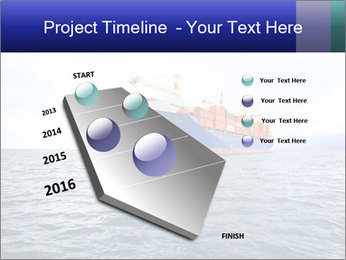 Commercial container ship PowerPoint Template - Slide 26