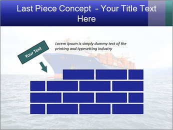 Commercial container ship PowerPoint Template - Slide 46