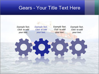 Commercial container ship PowerPoint Template - Slide 48