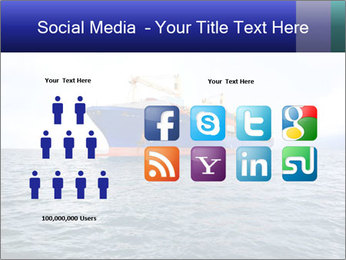 Commercial container ship PowerPoint Template - Slide 5