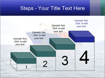 Commercial container ship PowerPoint Template - Slide 64