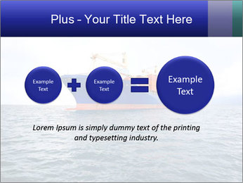 Commercial container ship PowerPoint Template - Slide 75