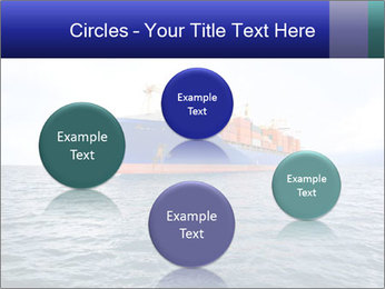 Commercial container ship PowerPoint Template - Slide 77
