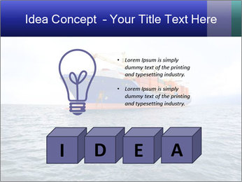 Commercial container ship PowerPoint Template - Slide 80