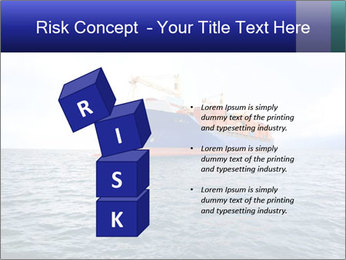 Commercial container ship PowerPoint Template - Slide 81