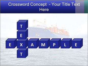Commercial container ship PowerPoint Template - Slide 82