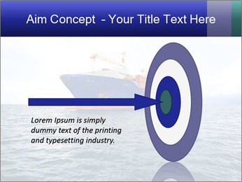 Commercial container ship PowerPoint Template - Slide 83