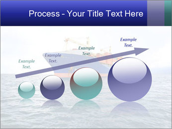 Commercial container ship PowerPoint Template - Slide 87