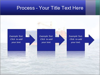 Commercial container ship PowerPoint Template - Slide 88