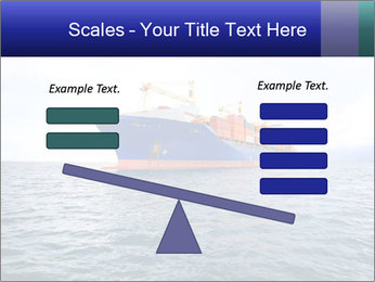 Commercial container ship PowerPoint Template - Slide 89