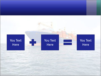 Commercial container ship PowerPoint Template - Slide 95