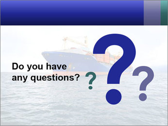 Commercial container ship PowerPoint Template - Slide 96