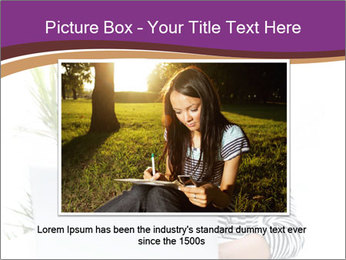 Beautiful girl working on a laptop PowerPoint Templates - Slide 15