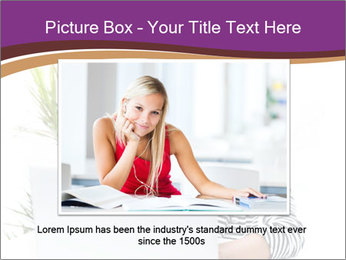 Beautiful girl working on a laptop PowerPoint Templates - Slide 16