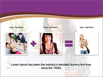 Beautiful girl working on a laptop PowerPoint Templates - Slide 22