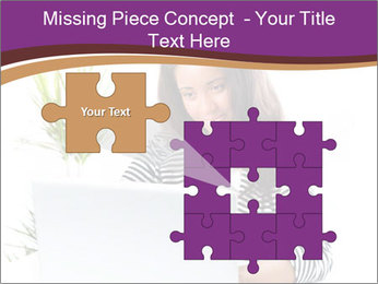 Beautiful girl working on a laptop PowerPoint Templates - Slide 45
