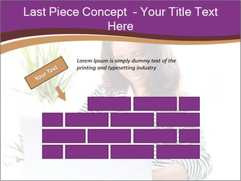 Beautiful girl working on a laptop PowerPoint Templates - Slide 46