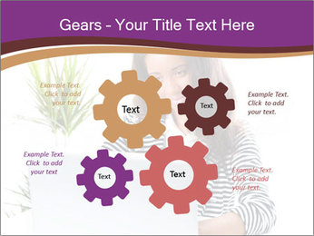 Beautiful girl working on a laptop PowerPoint Templates - Slide 47