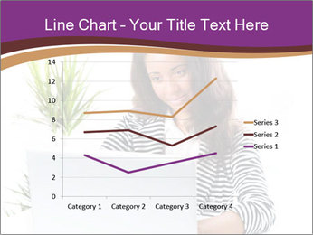 Beautiful girl working on a laptop PowerPoint Templates - Slide 54