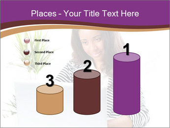 Beautiful girl working on a laptop PowerPoint Templates - Slide 65