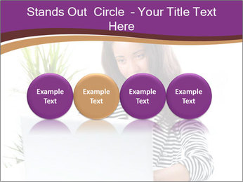 Beautiful girl working on a laptop PowerPoint Templates - Slide 76