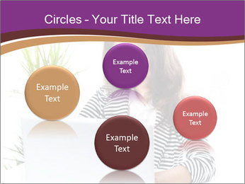 Beautiful girl working on a laptop PowerPoint Templates - Slide 77