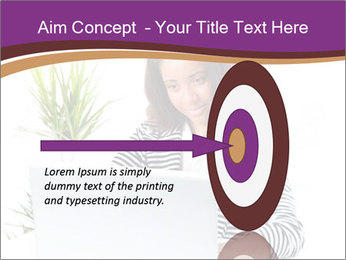 Beautiful girl working on a laptop PowerPoint Templates - Slide 83