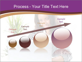 Beautiful girl working on a laptop PowerPoint Templates - Slide 87