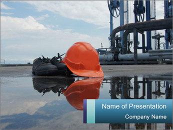 Construction safety boot Modèles des présentations  PowerPoint