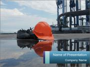 Construction safety boot PowerPoint Templates