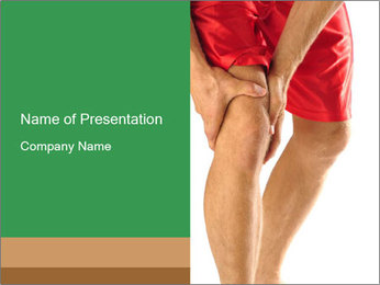 Injured athlete PowerPoint Template