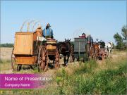 Kansas Cattle Drive Chuck PowerPoint Template