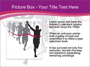 Group of marathon runners PowerPoint Template - Slide 13