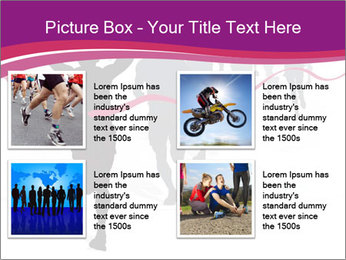 Group of marathon runners PowerPoint Template - Slide 14