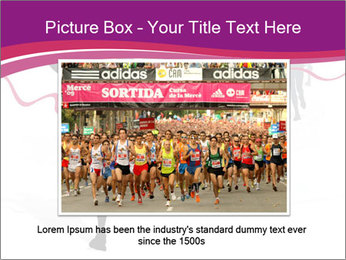 Group of marathon runners PowerPoint Template - Slide 15