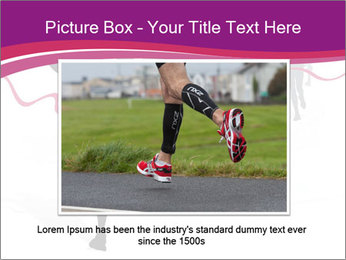 Group of marathon runners PowerPoint Template - Slide 16