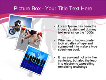 Group of marathon runners PowerPoint Template - Slide 17