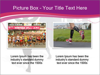 Group of marathon runners PowerPoint Template - Slide 18