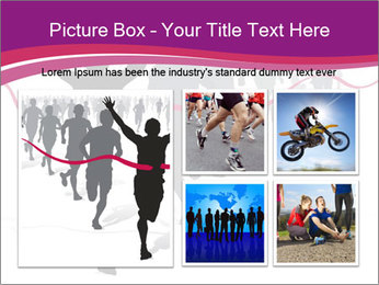 Group of marathon runners PowerPoint Template - Slide 19