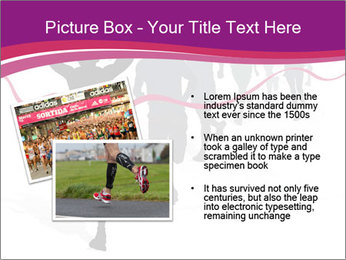 Group of marathon runners PowerPoint Template - Slide 20