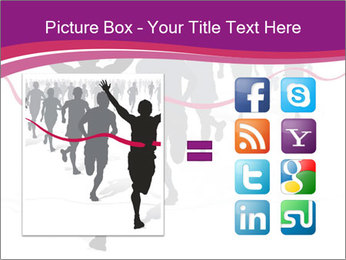 Group of marathon runners PowerPoint Template - Slide 21