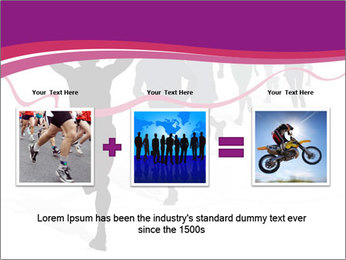 Group of marathon runners PowerPoint Template - Slide 22
