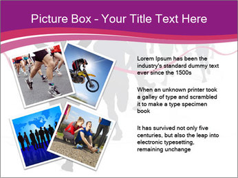Group of marathon runners PowerPoint Template - Slide 23