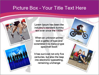 Group of marathon runners PowerPoint Template - Slide 24