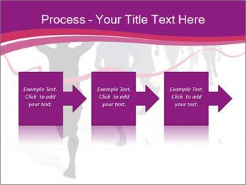 Group of marathon runners PowerPoint Template - Slide 88